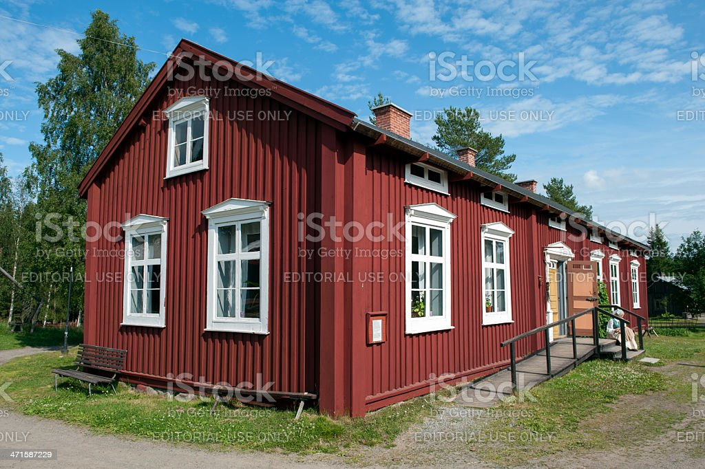 Old farmhouse in northern Sweden stock photo