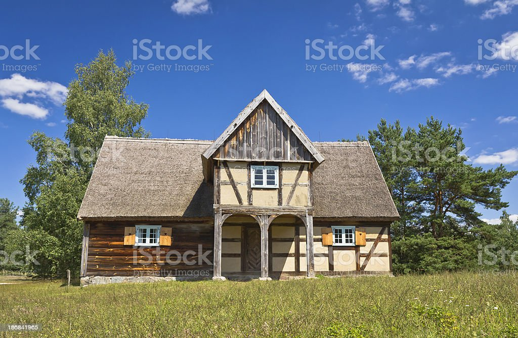 Old Farmhouse in Summer, Poland royalty-free stock photo