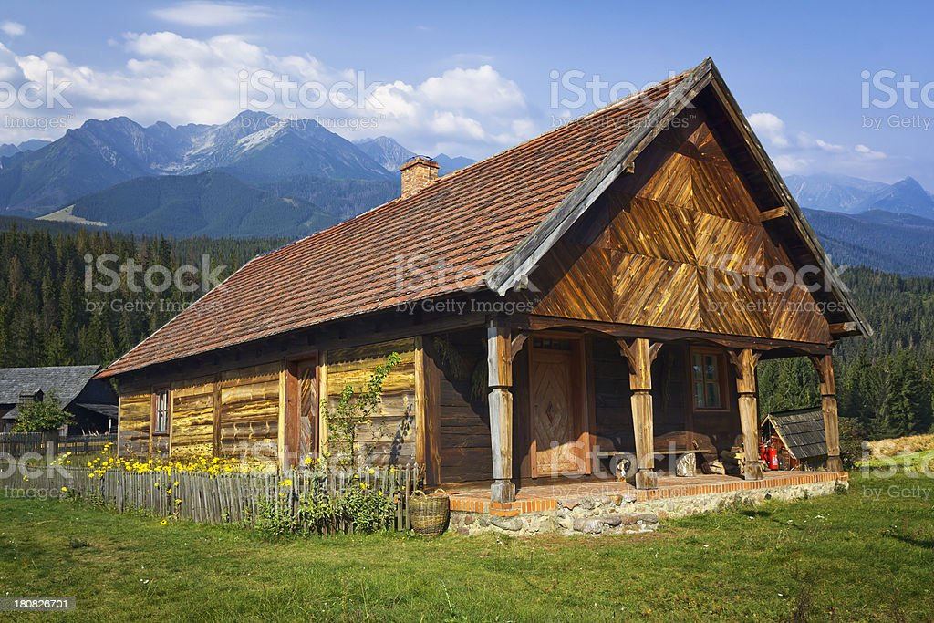 Old farmhouse in the mountains royalty-free stock photo