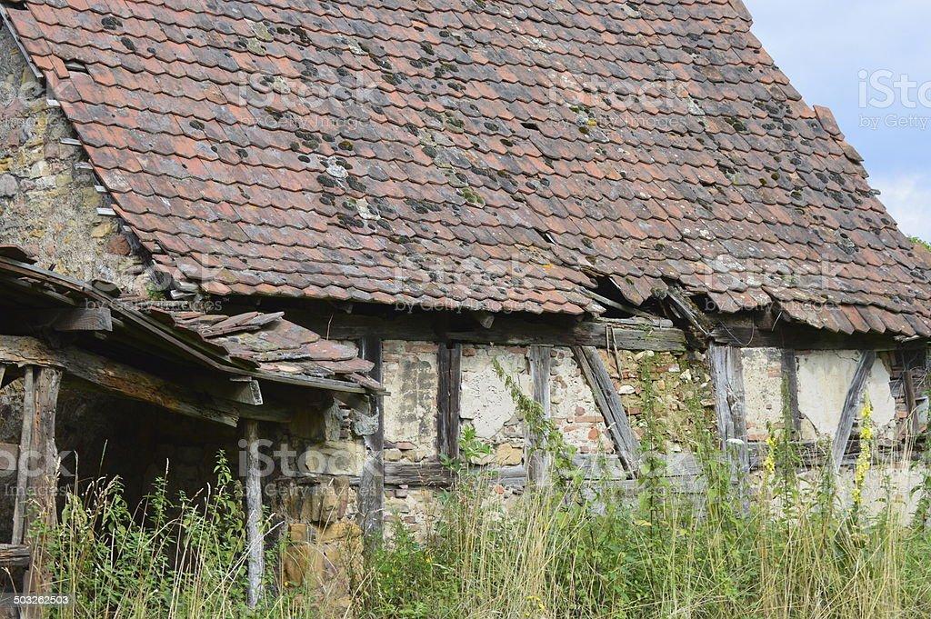 old farmhouse royalty-free stock photo