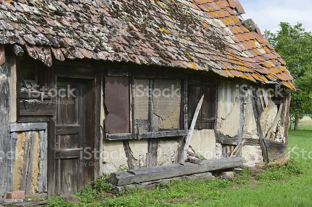 old farmhouse royalty-free stock photo