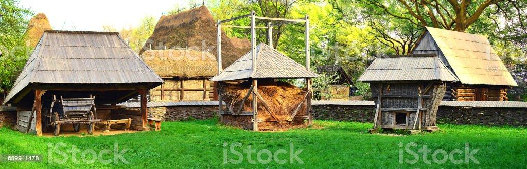Old Farmhouse Romania stock photo