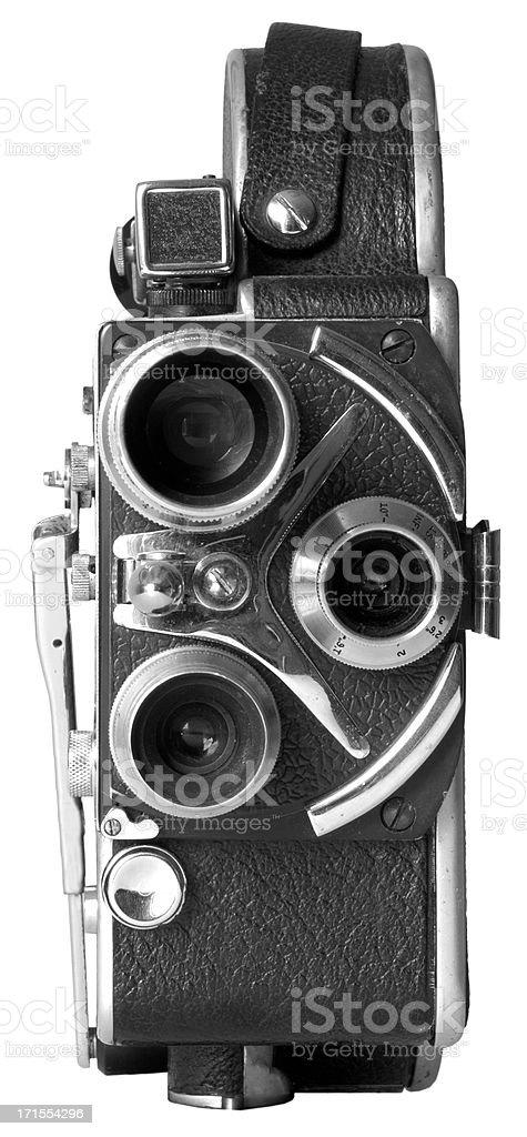 Old Fashion 16mm Movie Camera stock photo
