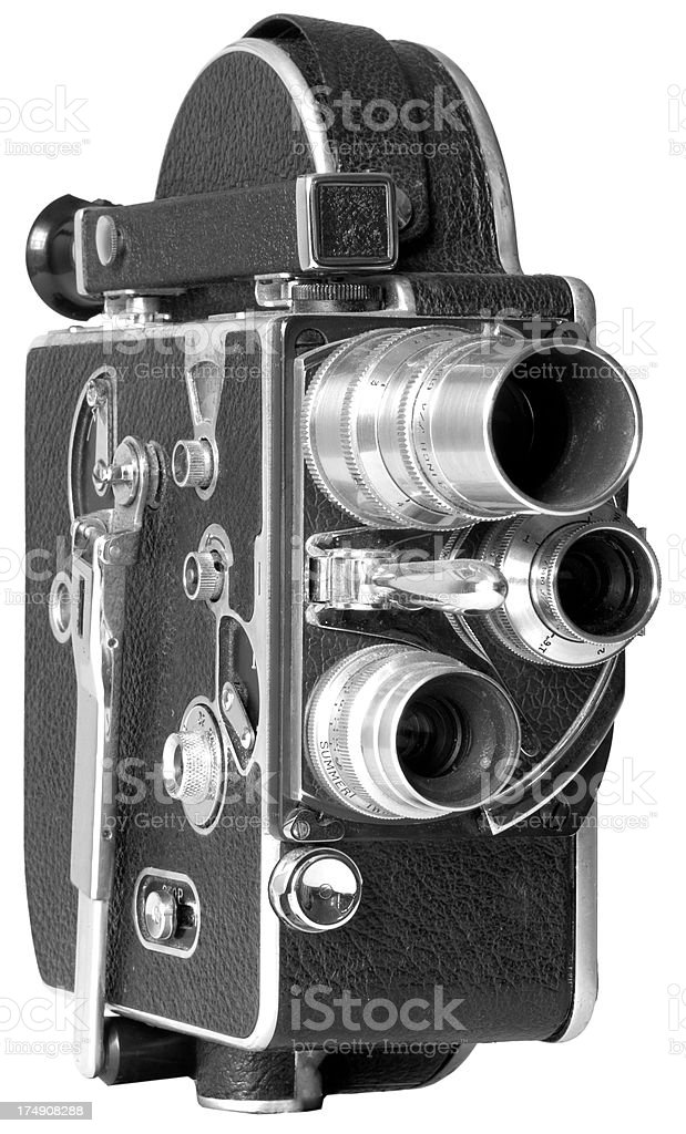 Old Fashion 16mm Movie Camera stock photo