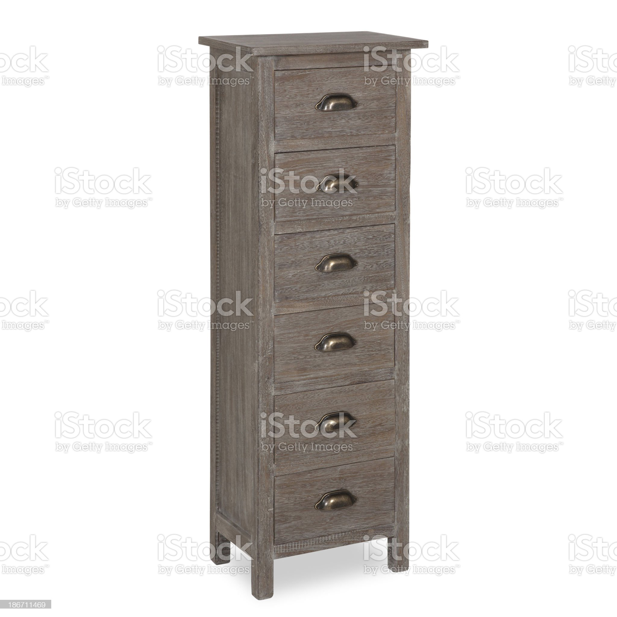 Old Fashion Chest Of Drawers Isolated royalty-free stock photo