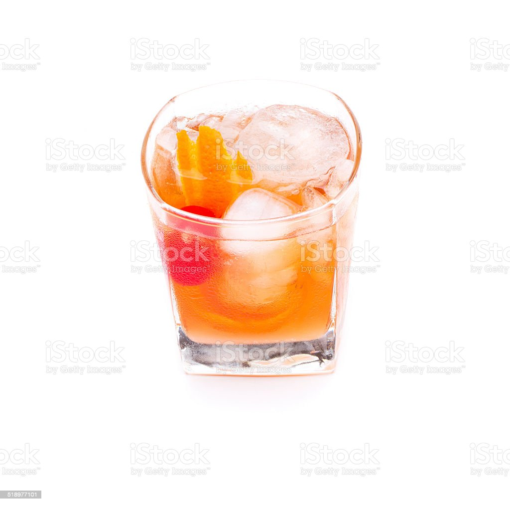 old fashion cocktail stock photo