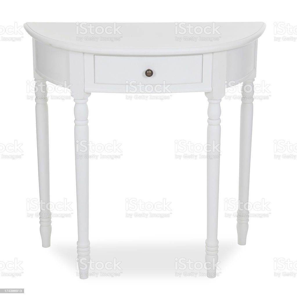 Old Fashion Console Table With Drawers Isolated royalty-free stock photo