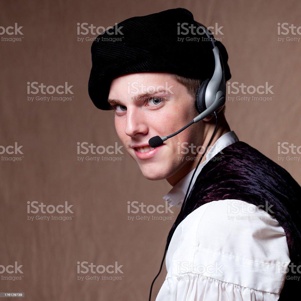 Old Fashion Customer Care stock photo