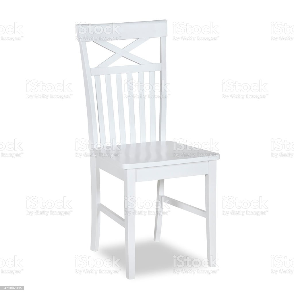 Old Fashion Dining Chair In Wood stock photo