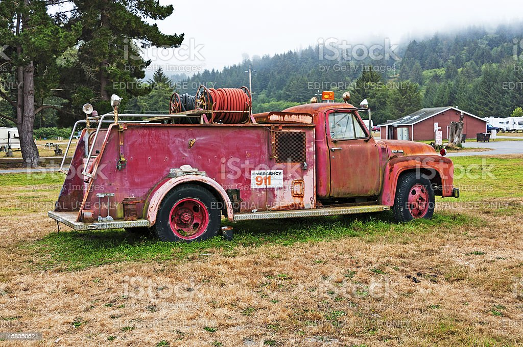 Old Fashion Fire Truck royalty-free stock photo