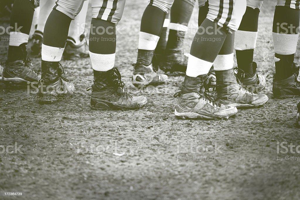 old fashion football stock photo