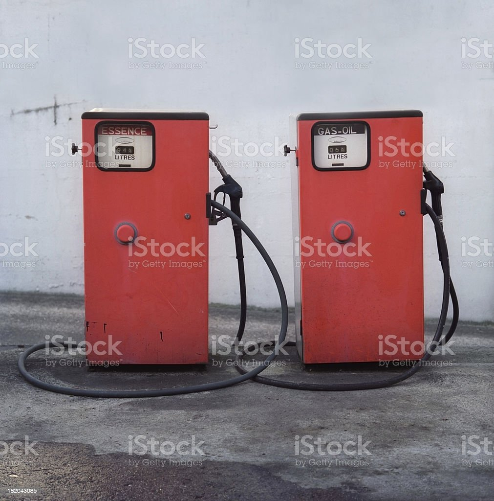 Old fashion French gas station stock photo