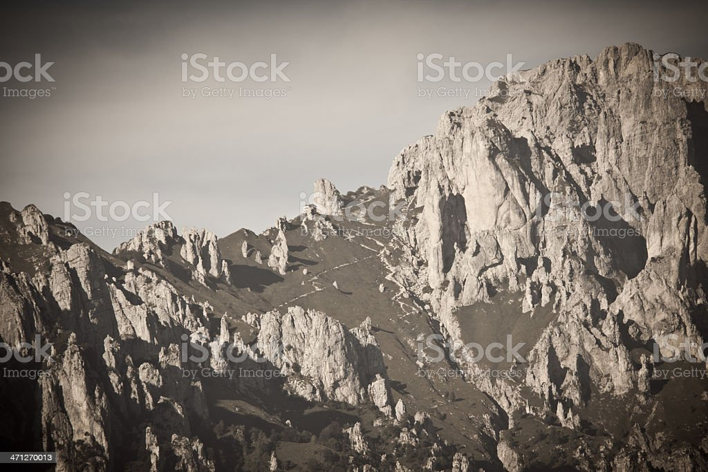 Old Fashion high Mountains crest landscape royalty-free stock photo
