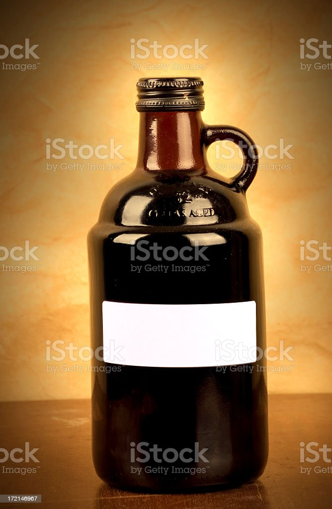 Old Fashion Jug with label royalty-free stock photo