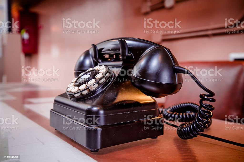 Old fashion rotary telephone stock photo