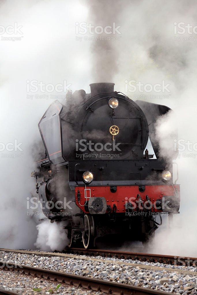 Old Fashion Steam Train stock photo