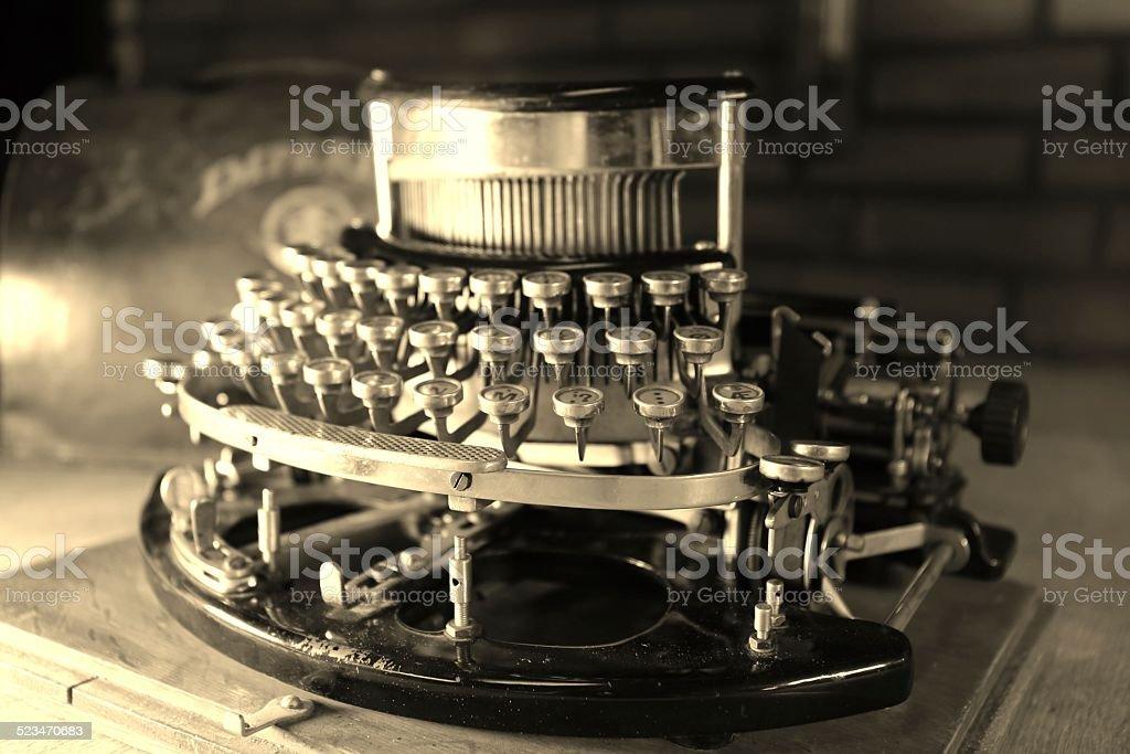 Old fashion Type writer stock photo