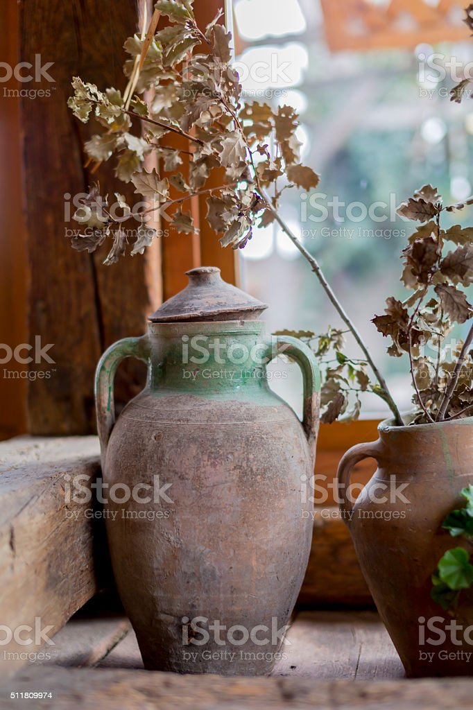 old fashioned amphora stock photo