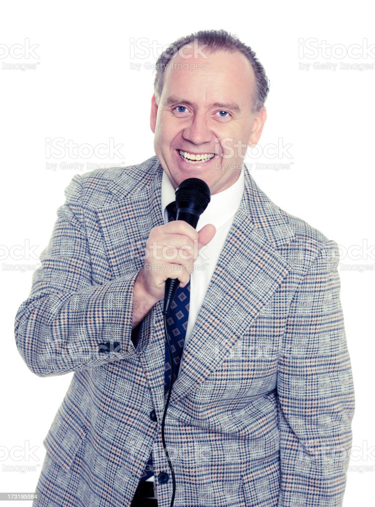Old Fashioned Announcer stock photo