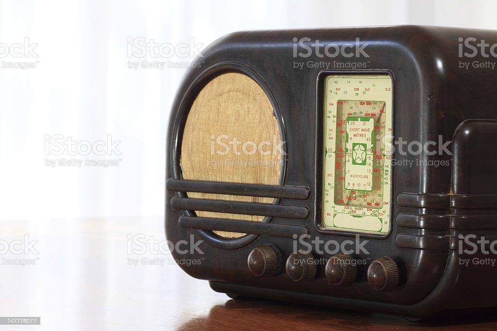 Old Fashioned Bakelite Radio stock photo