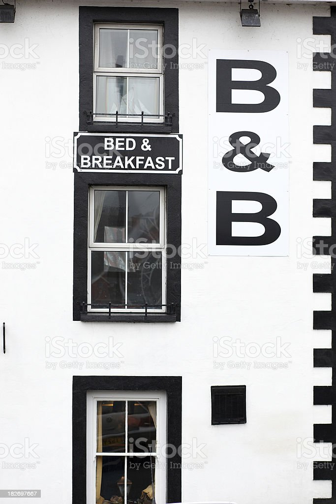 Old fashioned bed and breakfast establishment royalty-free stock photo