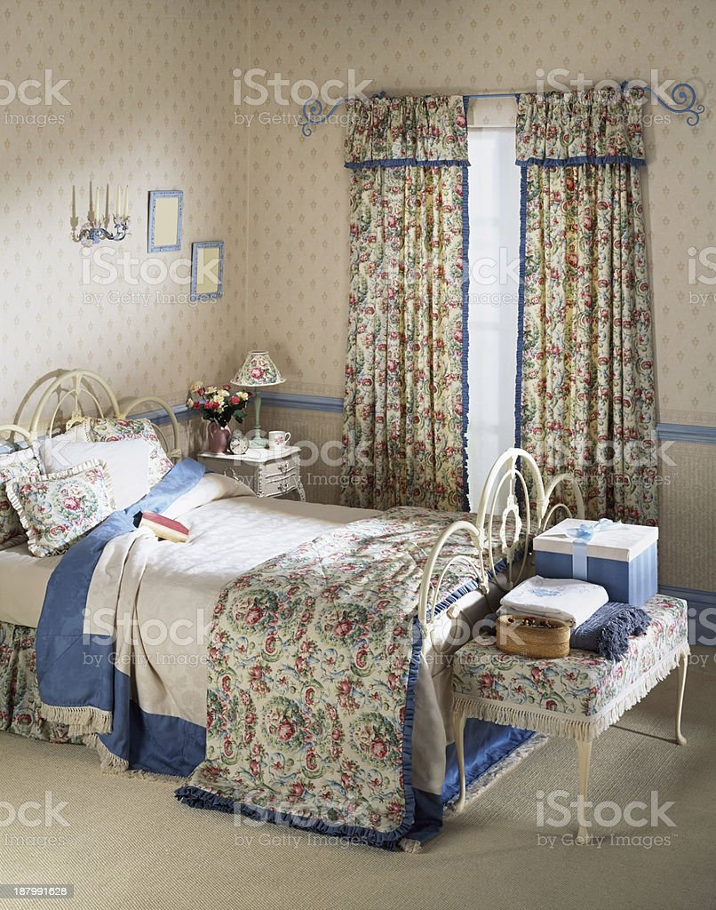 Old fashioned bedroom royalty-free stock photo