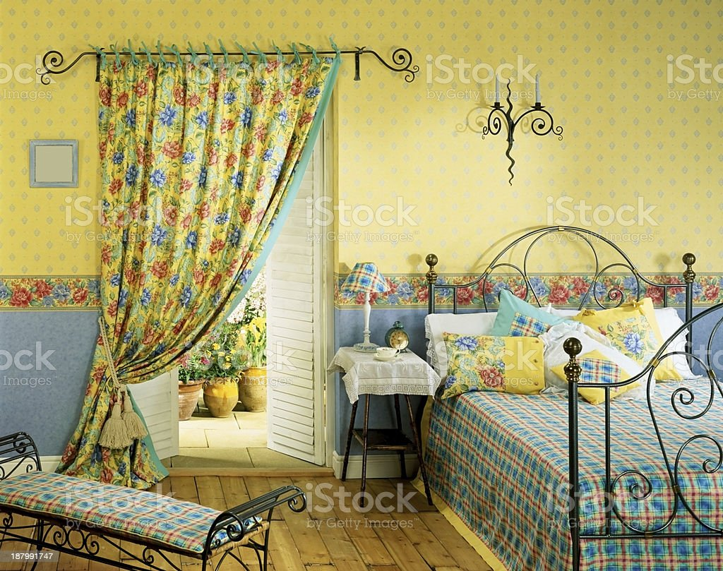 Old fashioned bedroom set royalty-free stock photo