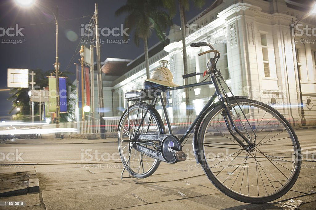 old fashioned bicycle (taxi) royalty-free stock photo