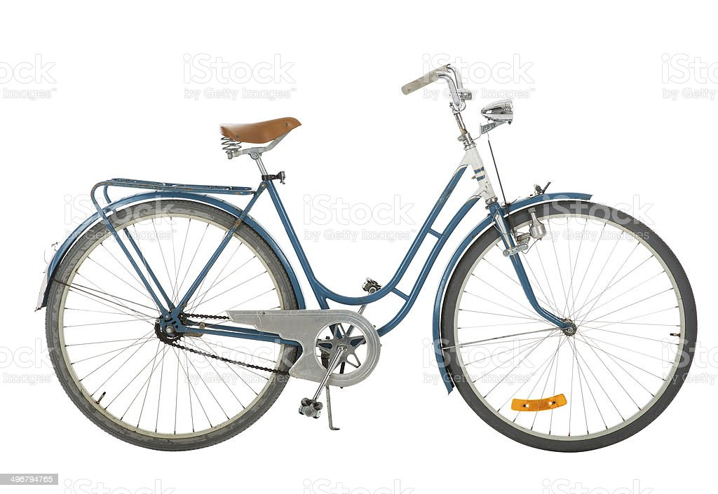 Old fashioned bicycle stock photo