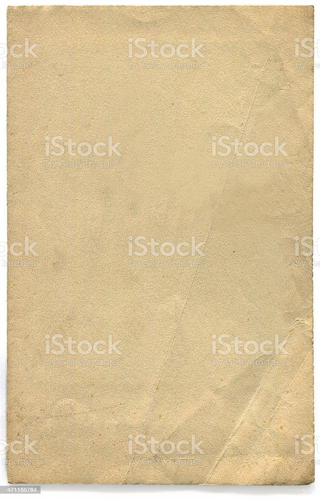 Old fashioned vuoto Grunge retrò carta (incluso il clipping path) foto stock royalty-free