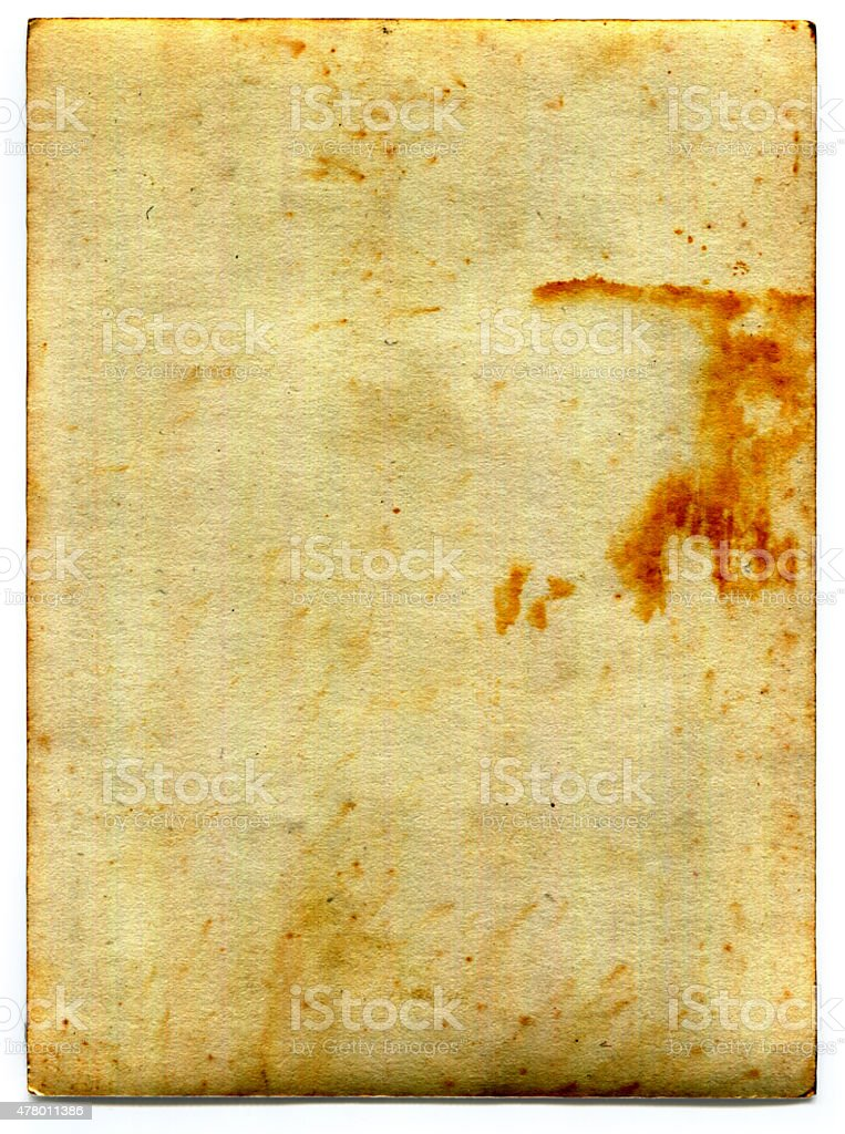 Old fashioned vuoto Grunge retrò carta (incluso il clipping path) foto stock royalty-free