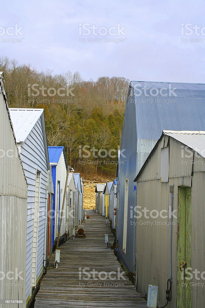 Old Fashioned Boat Dock royalty-free stock photo