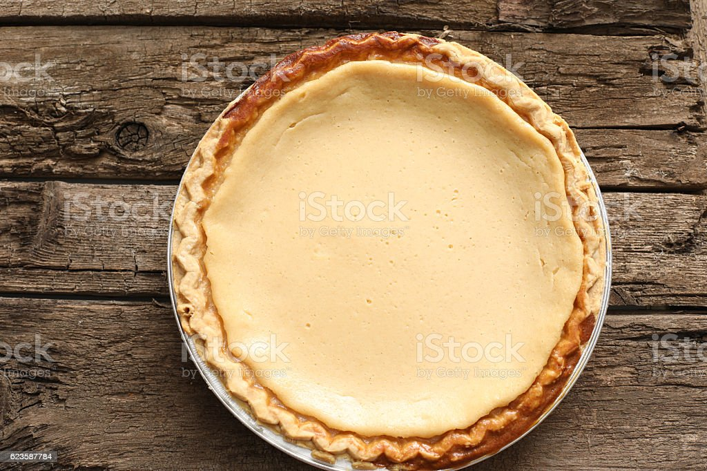 Old Fashioned Buttermilk Chess Pie stock photo