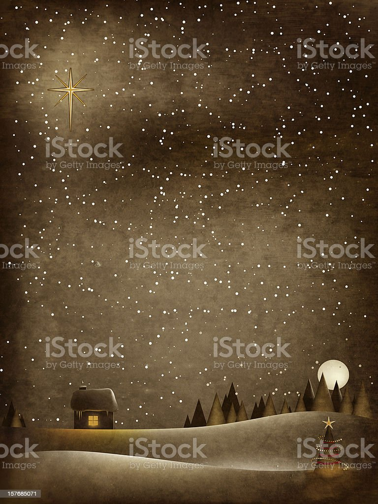 Old Fashioned Christmas vector art illustration