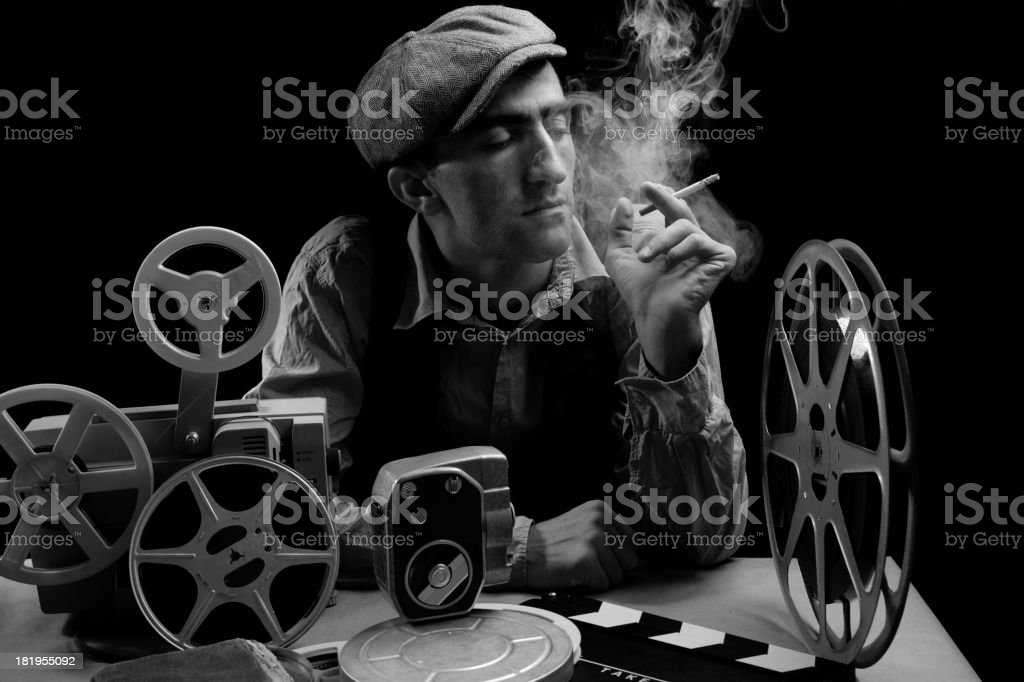 Old Fashioned Cinema Director stock photo