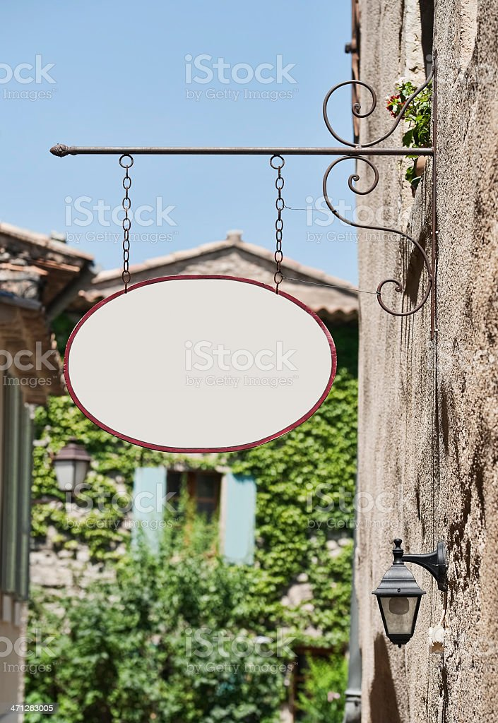 Old fashioned commercial sign royalty-free stock photo