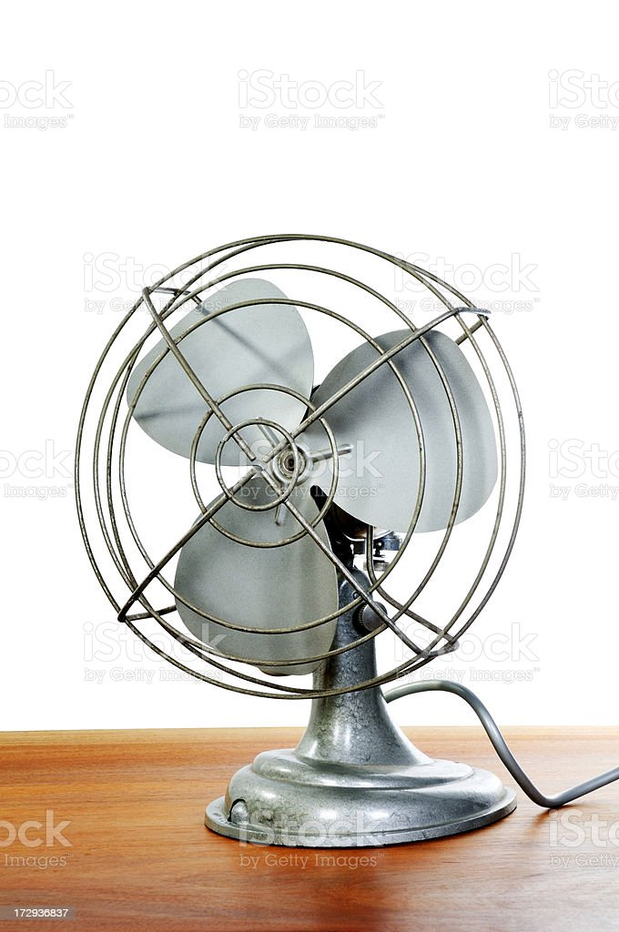 Old fashioned fan stock photo