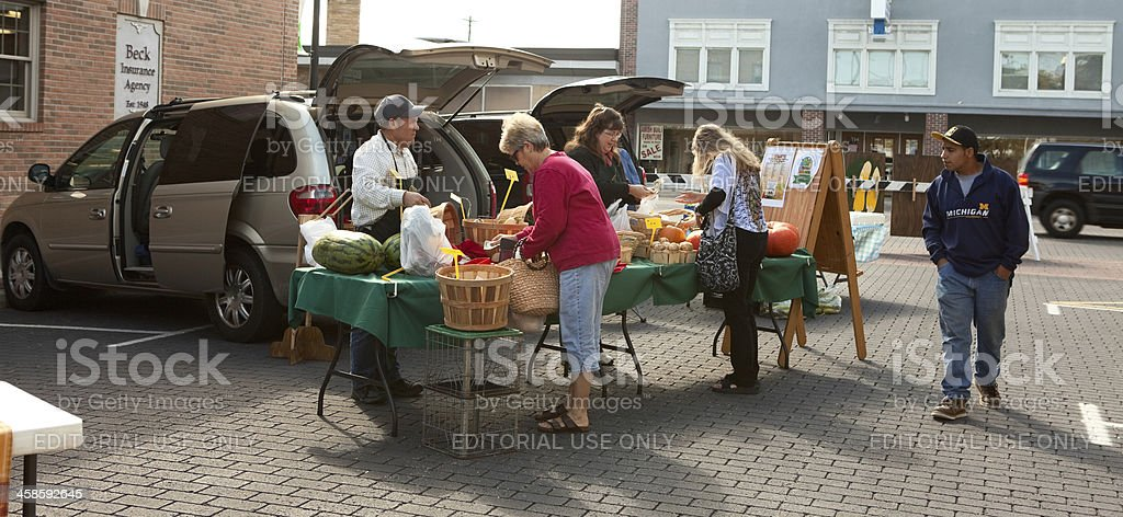 Old Fashioned Farmer's Market in Midwest royalty-free stock photo