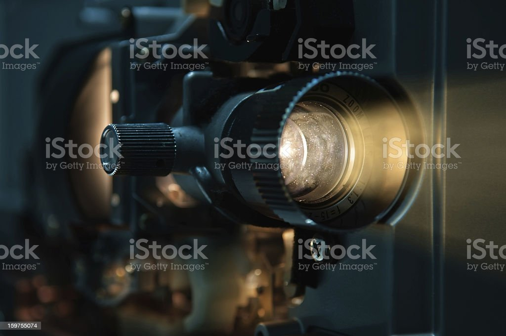 Old fashioned Film Projector stock photo