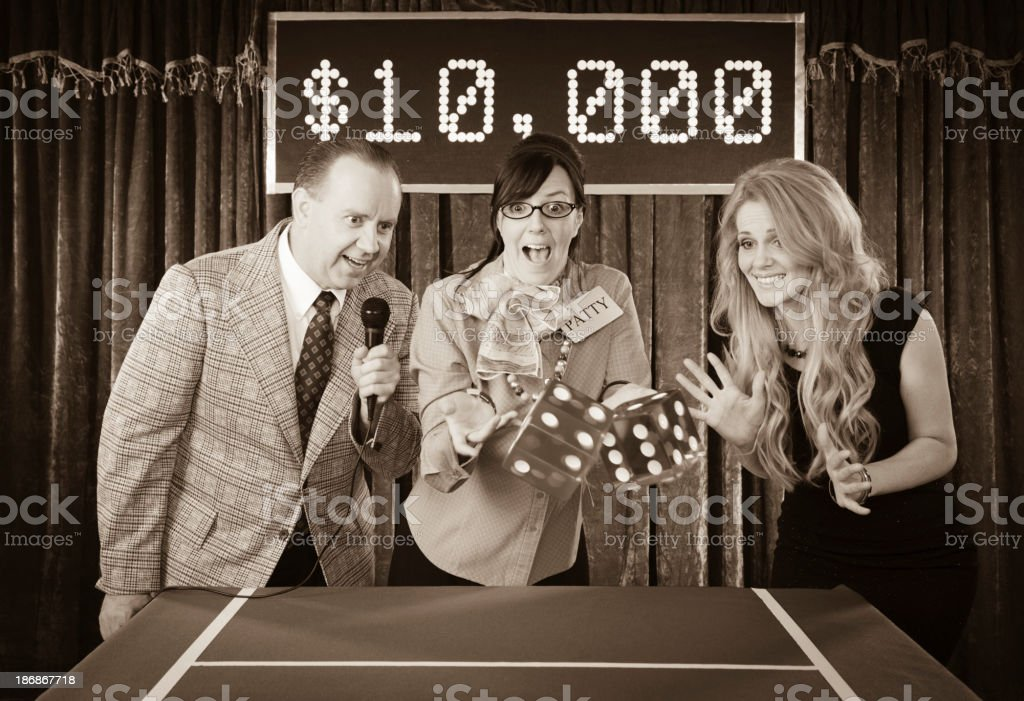 Old Fashioned Game Show stock photo