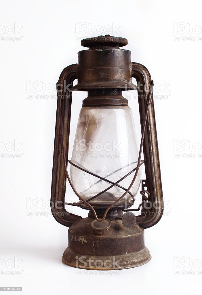 Old Fashioned Gas Lamp stock photo