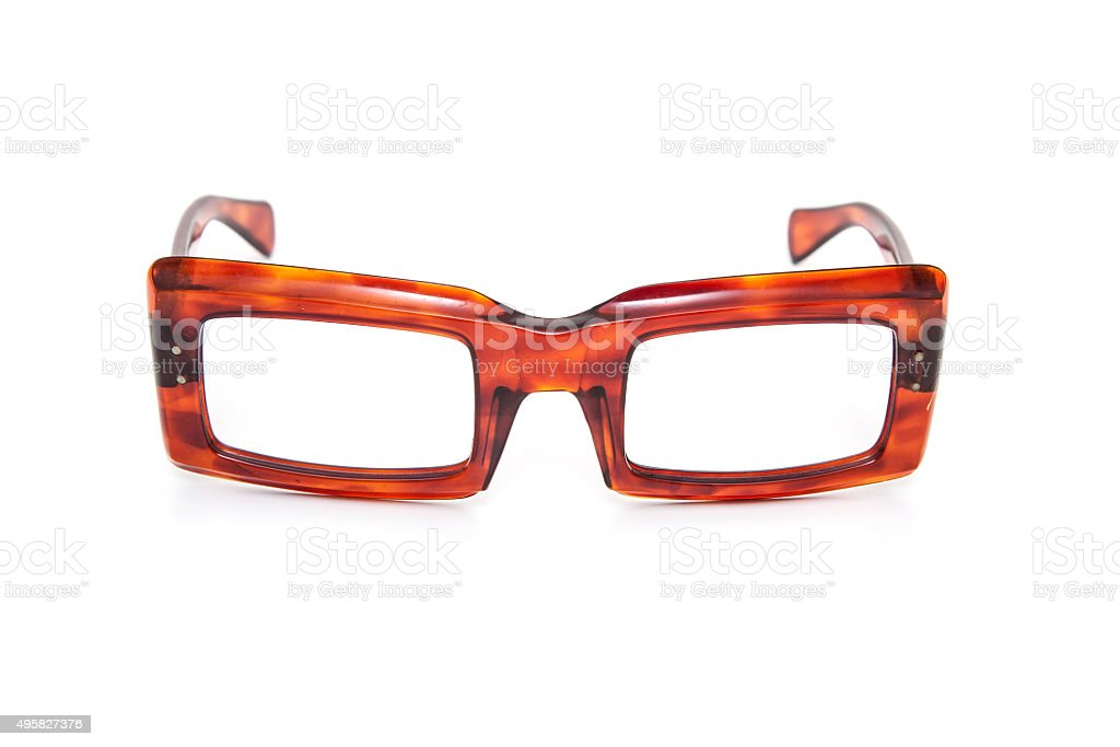 Old fashioned horn-rimmed specs stock photo