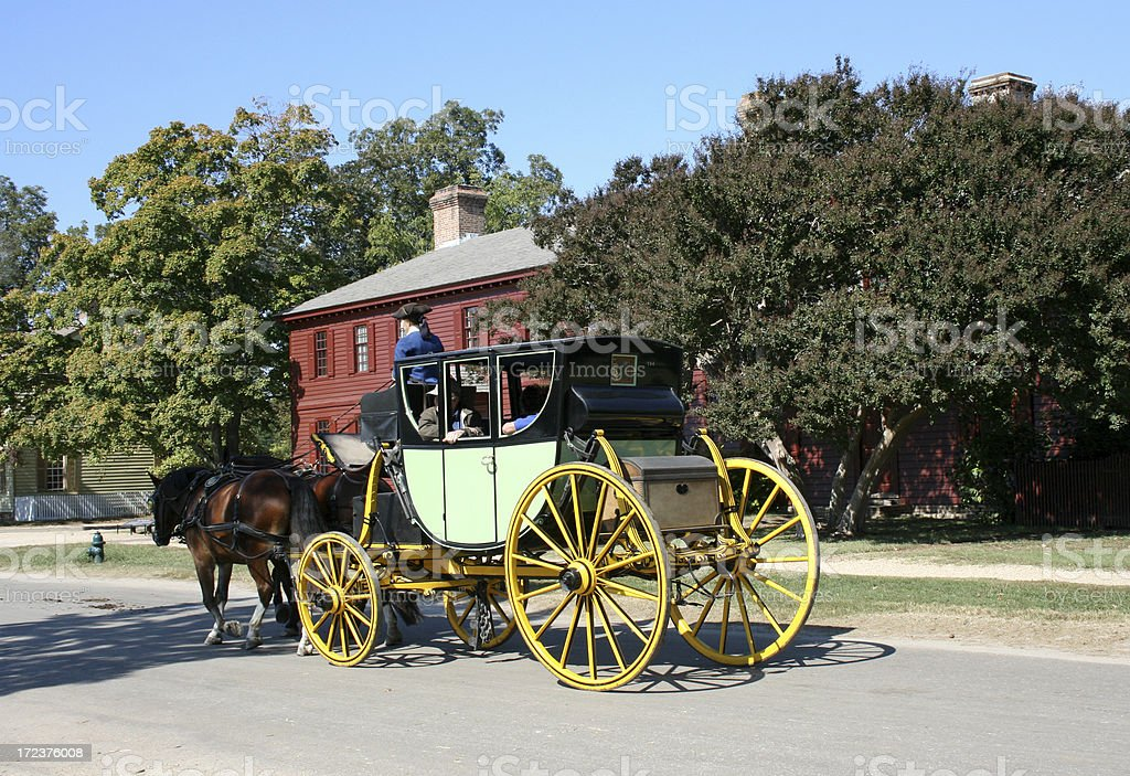 Old fashioned horse and cart stock photo