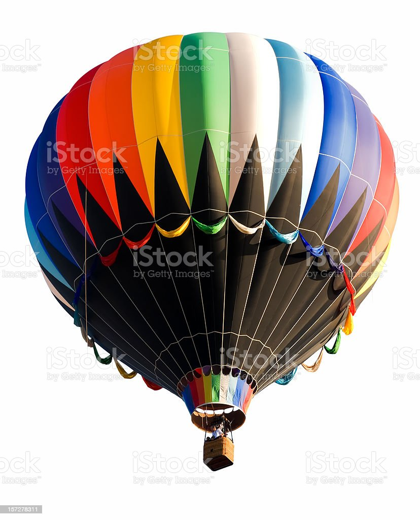 Old Fashioned Hot Air Balloon Isolated on White royalty-free stock photo