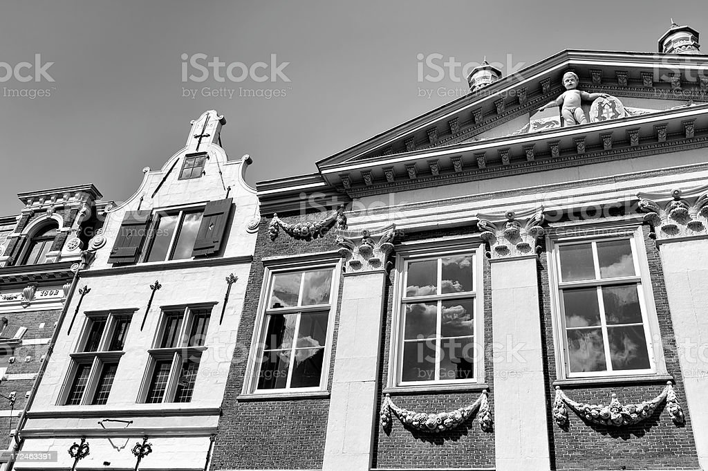 Old Fashioned Houses royalty-free stock photo