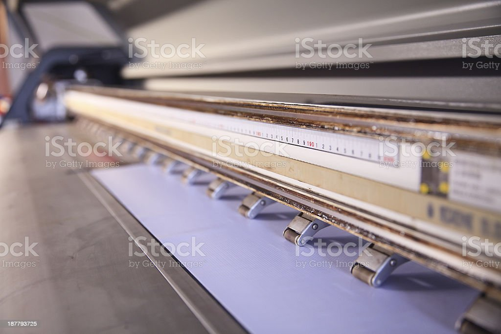 Old fashioned ink printer zoomed in royalty-free stock photo
