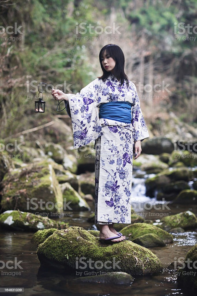 old fashioned japanese woman. royalty-free stock photo