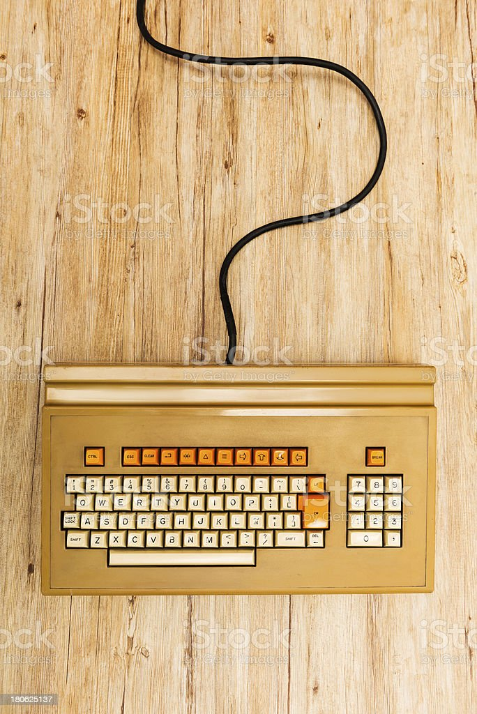 Old fashioned keyboard royalty-free stock photo
