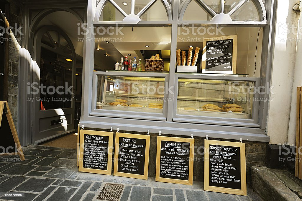 Old fashioned kiosk in Cornwall, England stock photo