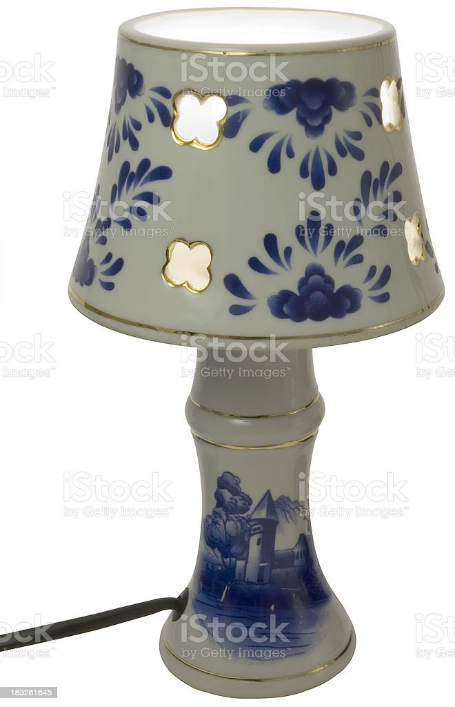 Old fashioned lamp shade stock photo